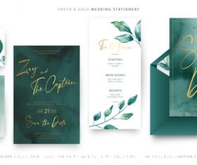 Wedding invitations elegant decorative template vector