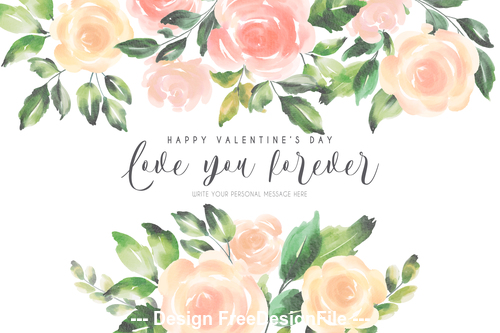 Wedding invitations floral template vector