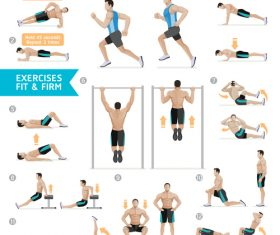 Weight exercises icon vector