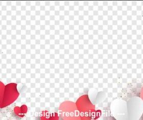 White checkered background Valentines day template vector