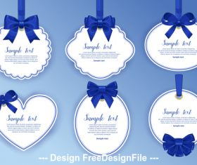 White label and blue bow vector