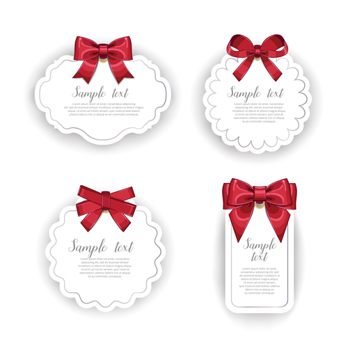 White label and red bow vector