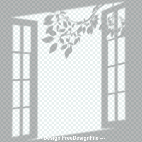 Window shadow effect vector