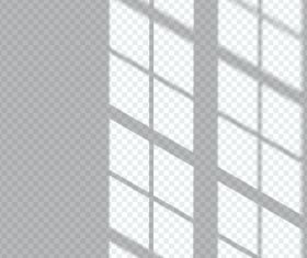 Window transparent shadow effect vector