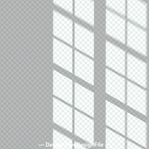 Window transparent shadow effect vector