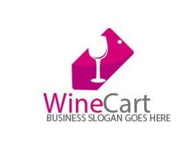 Wine Cart Logo vector