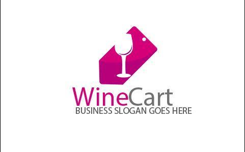 Wine Cart Logo vector