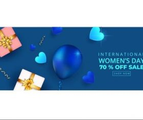 Woman day discount sale vector