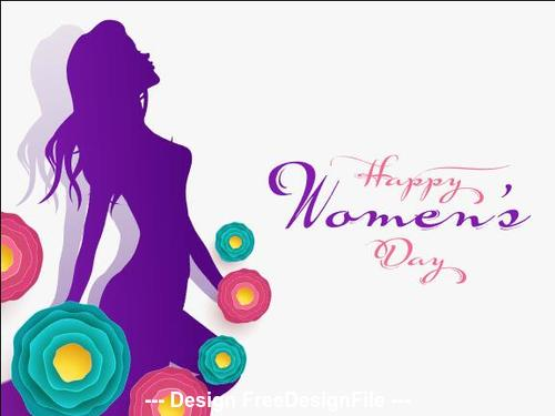Woman theme march 8 international womens day greeting card vector