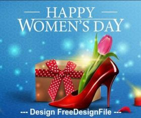 Womens day gift vector