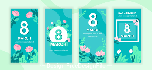 Womens day instagram stories social template vector