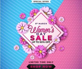 Womens day reward sale card vector