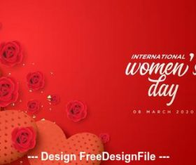Womens day sincere greeting card vector