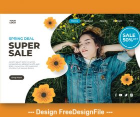 Womens supplies discount design promotion page vector