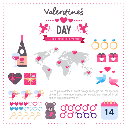 World valentines day message vector