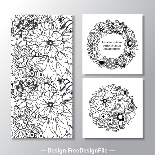 Wreath and flower vector