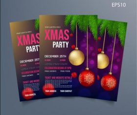 Xmas party card vector