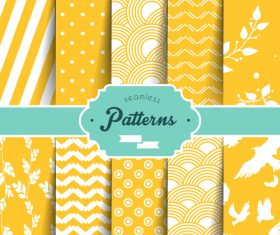 Yellow seamless wallpaper pattern vector