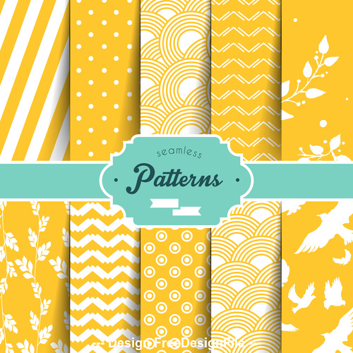 Yellow seamless wallpaper pattern vector