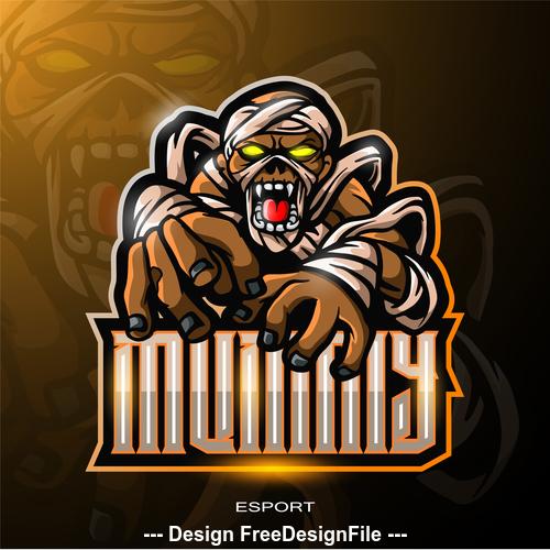 Zombie logo vector