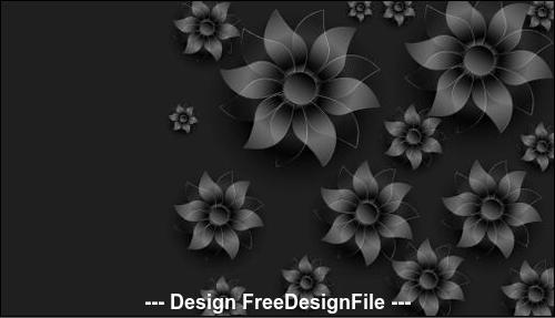 flowers silhouette decoration design background vector