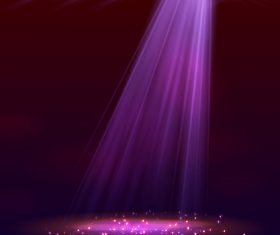 A bunch of purple spotlights vector