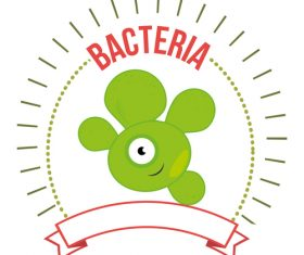Abominable bacteria icon vector