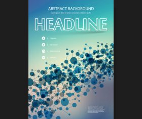 Abstract background flyer design template vector