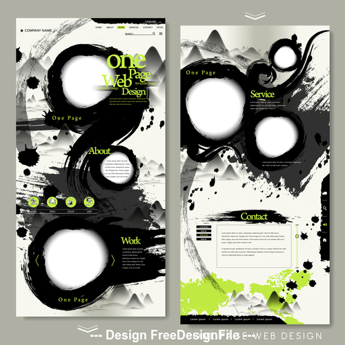 Abstract background website design template vector
