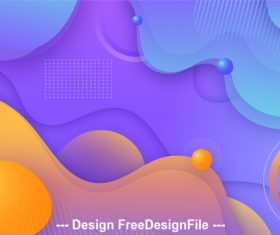 Abstract tricolor geometric background vector