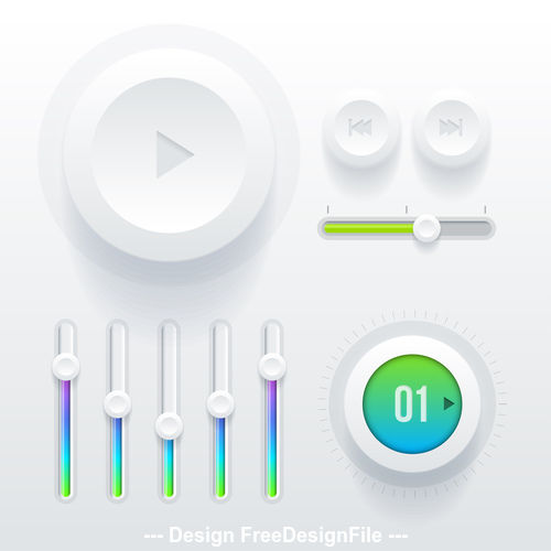 Adjustment button design vector