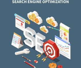 Advanced business search engine illustration vector