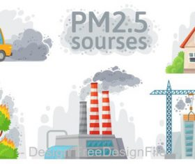 Air pollution illustration vector