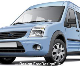 American compact minivan vector