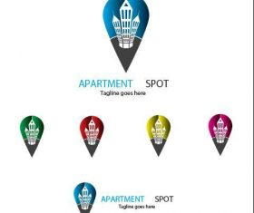 Apartment spot logo vector