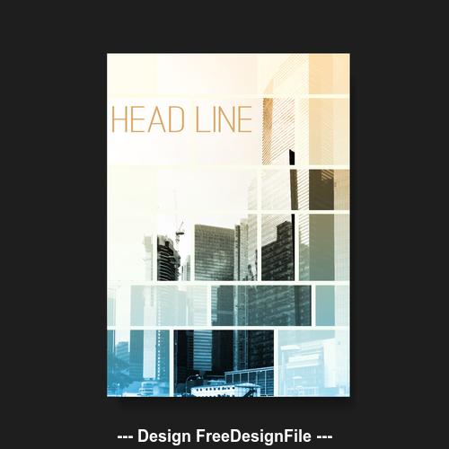 Architectural background flyer brochure design template vector