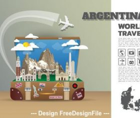 Argentina cartoon illustration vector
