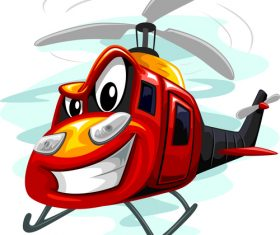 Assault helicopter cartoon vector