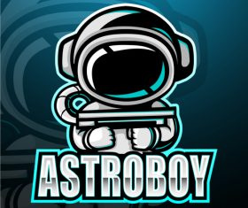 Astroboy gaming mascot design vector
