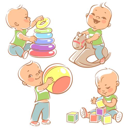 Babay building blocks vector