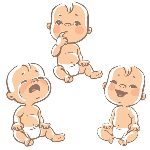 Baby emoji vector