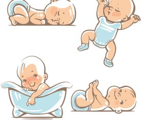 Baby everyday life vector