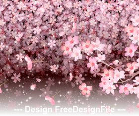 Background illustration sakura vector