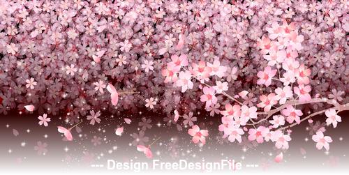 Background illustration sakura vector