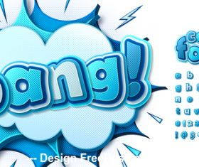 Bang comic font vector