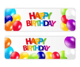 Banner celebration birthday vector
