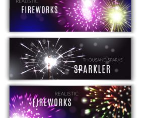 Banner fireworks vector