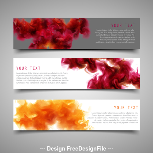 Banners with ink background vector