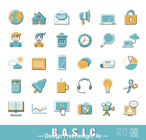 Basic icon vector