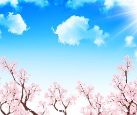 Beautiful cherry blossom vector
